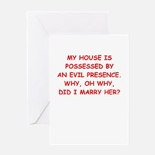 possessed Greeting Cards