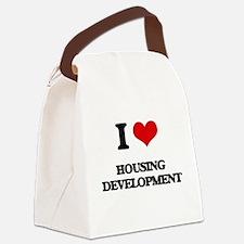 I Love Housing Development Canvas Lunch Bag
