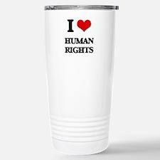 I Love Human Rights Stainless Steel Travel Mug