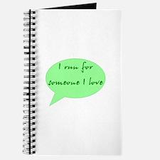 run for someone I love Journal
