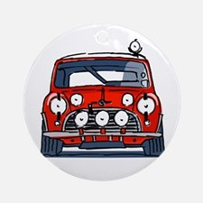 Mini Cooper Ornament (Round)