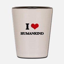 I Love Humankind Shot Glass