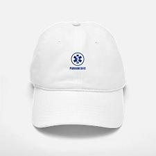 Paramedic Blue on WHite Baseball Baseball Cap