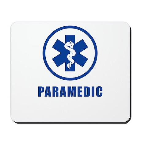 Paramedic Blue on WHite Mousepad