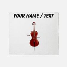 Custom Cello Throw Blanket