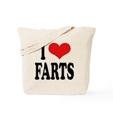 I Love Farts Tote Bag