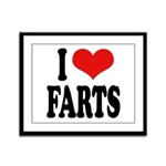I Love Farts Framed Panel Print