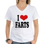 I Love Farts Women's V-Neck T-Shirt