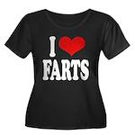 I Love Farts Women's Plus Size Scoop Neck Dark T-S