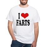 I Love Farts White T-Shirt