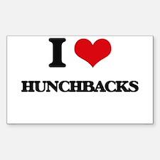 I Love Hunchbacks Decal