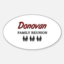 Donovan Family Reunion Oval Decal