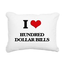 I Love Hundred Dollar Bi Rectangular Canvas Pillow