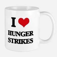I Love Hunger Strikes Mugs