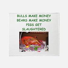 bulls and bears Throw Blanket