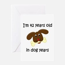 6 dog years 4 - 2 Greeting Cards
