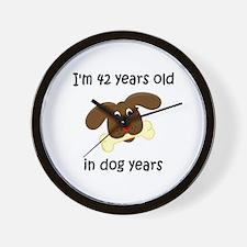 6 dog years 4 - 2 Wall Clock