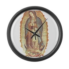 Virgen_de_guadalupe Large Wall Clock
