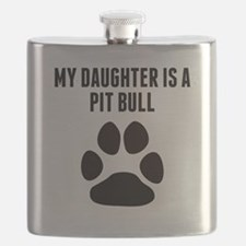 My Daughter Is A Pit Bull Flask