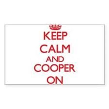 Keep Calm and Cooper ON Decal