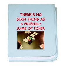 poker baby blanket
