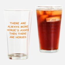 horses ass Drinking Glass