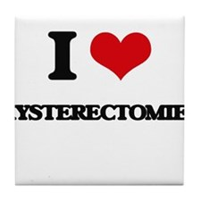 I Love Hysterectomies Tile Coaster