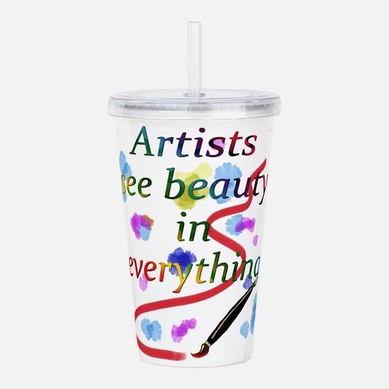 Artists See Beauty Acrylic Double-Wall Tumbler
