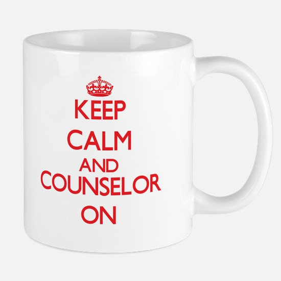 Keep Calm and Counselor ON Mugs