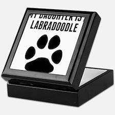 My Daughter Is A Labradoodle Keepsake Box