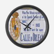 Rue Orleans Large Wall Clock