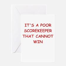 scorekeeper Greeting Cards