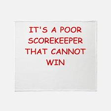 scorekeeper Throw Blanket
