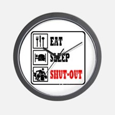Eat Sleep Hockey -Goalie Wall Clock