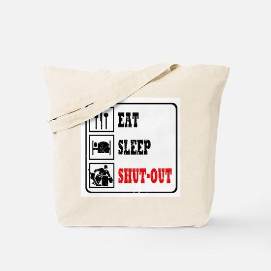 Eat Sleep Hockey -Goalie Tote Bag