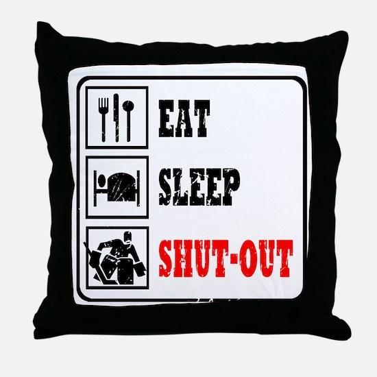 Eat Sleep Hockey -Goalie Throw Pillow