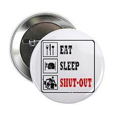Eat Sleep Hockey -Goalie Button