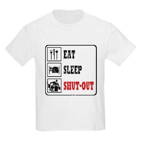 Eat Sleep Hockey -Goalie Kids Light T-Shirt