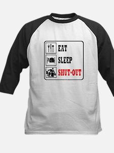 Eat Sleep Hockey -Goalie Kids Baseball Jersey