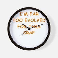 evolution Wall Clock