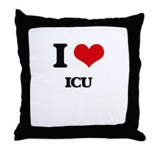I Love Icu Throw Pillow