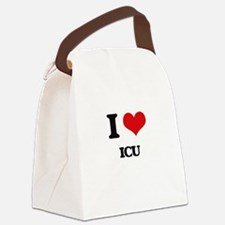 I Love Icu Canvas Lunch Bag