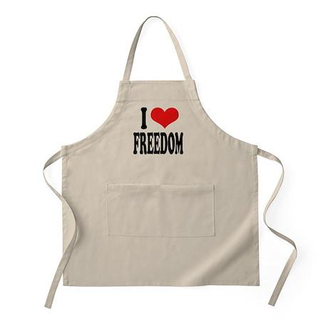 I Love Freedom BBQ Apron