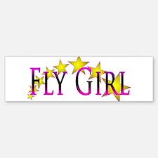 Flygirl Gold Star Bumper Bumper Bumper Sticker