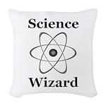 Science Wizard Woven Throw Pillow