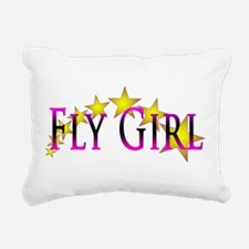 Flygirl Gold Star Rectangular Canvas Pillow