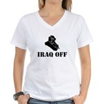 Funny Iraq war Women's V-Neck T-Shirt