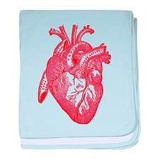 Anatomical Heart - Red baby blanket