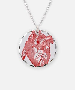 Anatomical Heart - Red Necklace