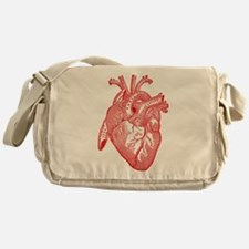 Anatomical Heart - Red Messenger Bag